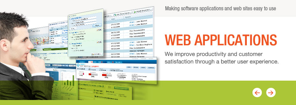 Web Applications: We improve productivity and customer satisfaction through a b
