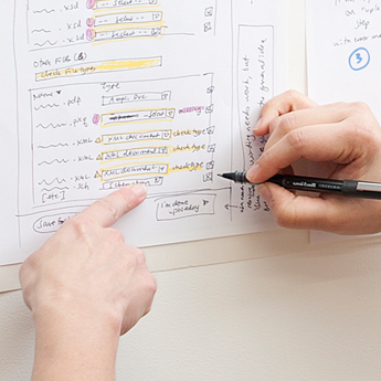 Sketching application design